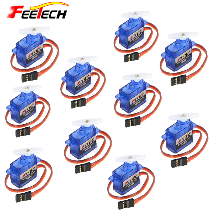 Free shipping !10 pcs /lot New 9G Micro / Mini Servos Feetech FS90R Servo For RC Car Boat Robot Drones free shipping nylon steering rudder for rc boat height 28mm 36mm 44mm 52mm