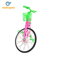 LeadingStar Plastic Green Detachable Bike Toy Bicycle With Basket For Barbie Doll Great Gift Toys For