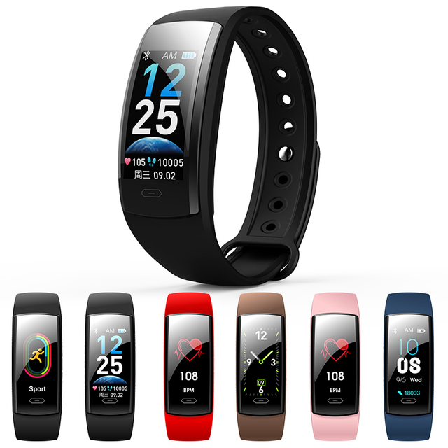 Smart Fitness Bracelet Men Waterproof Smart Band Blood Pressure Heart Rate Monitor Watch Health Wristband for Android IOS Phone