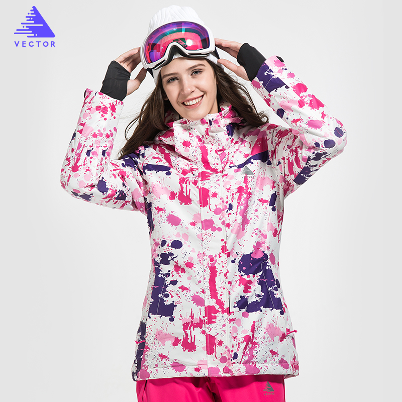 VECTOR Brand  Warm Winter Ski Jacket Women Windproof Waterproof Skiing Jackets Outdoor Sport Snow Coat Snowboarding Clothing men and women winter ski snowboarding climbing hiking trekking windproof waterproof warm hooded jacket coat outwear s m l xl