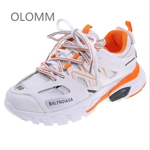 Купить с кэшбэком Women Sneakers 2019 Multi color Thick Sole Ladies Platform Shoes Height Increasing Chunky Shoes Women Casual Shoes 900w