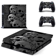 Grey skulls Design PS4 Skin Decal Sticker For PlayStation4 Console and 2 controller skins