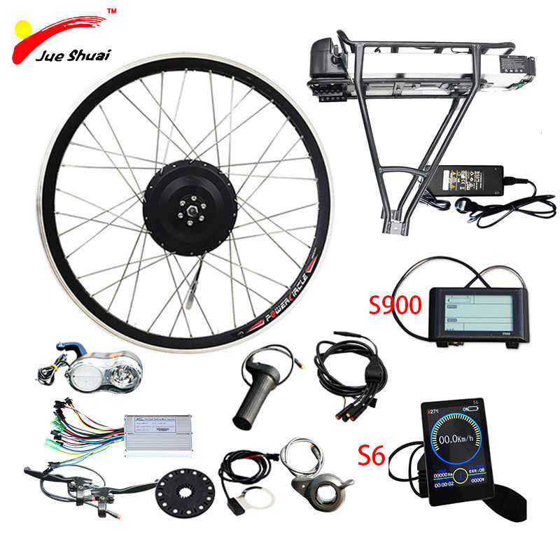 "48V500W Electric Bike Conversion Kit with 48V12AH Battery for 26"" 700C(28"") Motor Wheel Electric Wheel ebike bicicleta eléctrica"