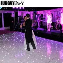 2 фута* 2 фута сценическое освещение СИД танцпол СИД Свадебный пол звездный свет диско танцпол
