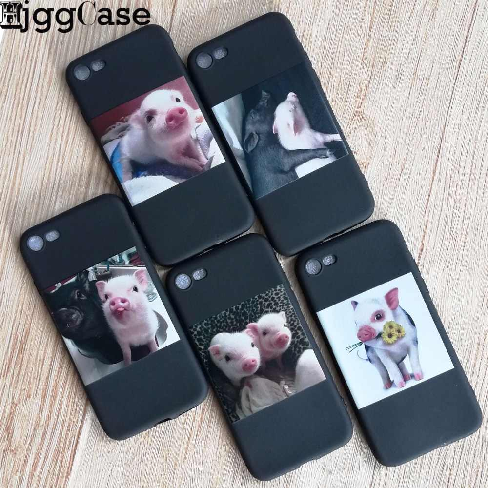 Funny Cartoon Pig Print Pattern Phone Case For iphone X XR XS Max Case For iphone 6 S 5 5s 7 8 plus Soft Cover Cute Couple Cases