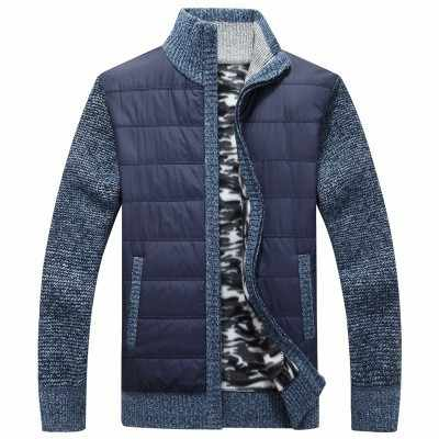 Herbst Winter herren Dicken Pullover Mantel 2019 Casual Stehkragen Sweatercoat Männer Zipper Strickjacke Pullover masculino Plus Größe 3XL
