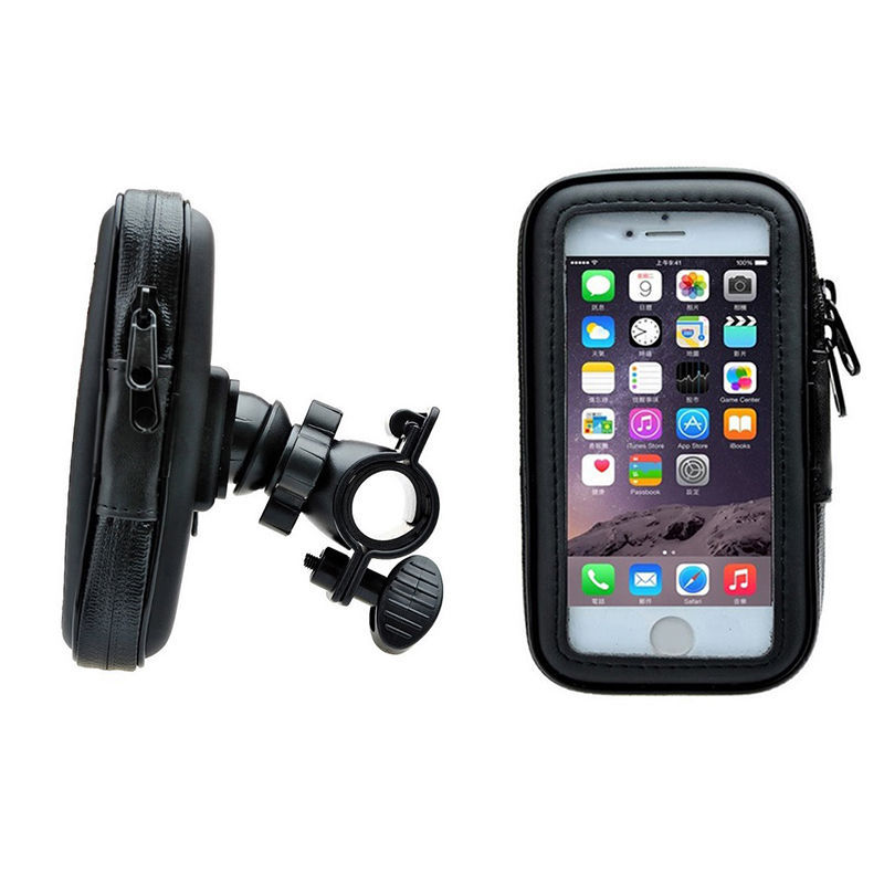 Waterproof Rotating Bicycle Bike Mount Handle Bar Phone GPS Holder Case bag for iphone 6 6s 7 8 and for samsung galaxy s3 s4