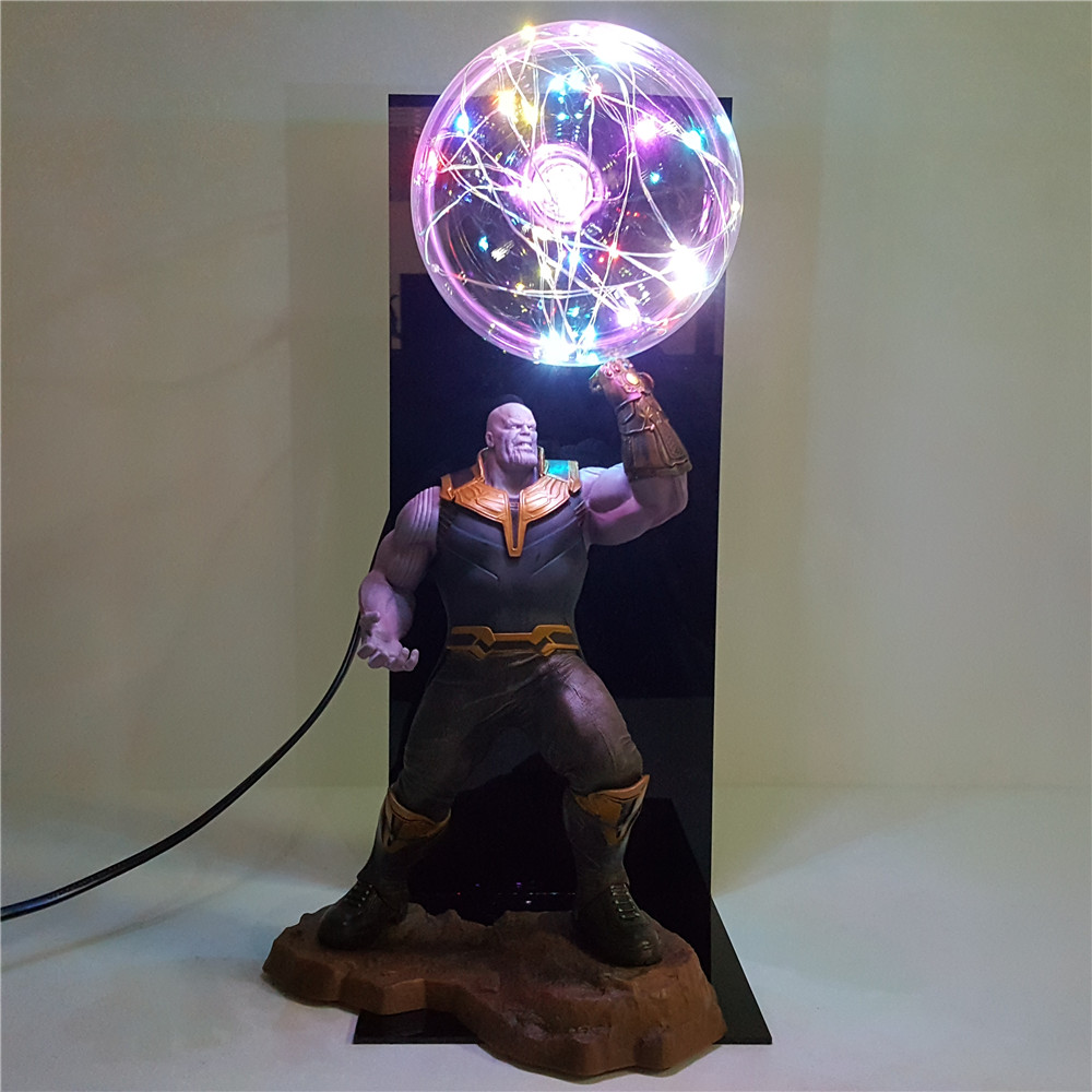 Avengers 4 Endgame Thanos Gauntlet Toys Lampara Led Bulb Flash DIY Night Light Infinity War Lamp Doll Display Set Anime Figure