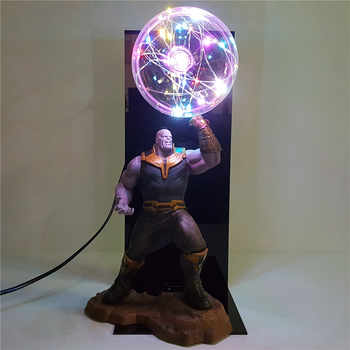 Vengadores 4 Endgame Thanos guantelete juguetes Lampara Led Bombilla Flash DIY luz nocturna Infinity War lámpara muñeca Display Set Anime figura