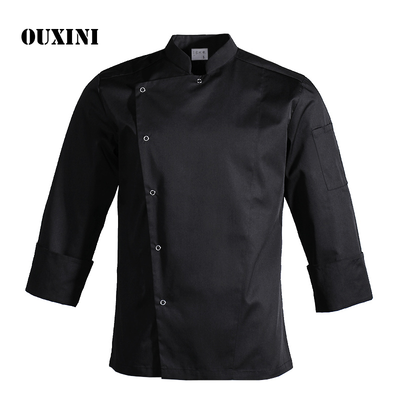 Chef Jacket Man Uniform Cook Restaurant Hotel BBQ Kitchen High Quality Workwear Clothing Food Service Chef Tops