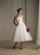 $10 off per $100 order 3-1 Spring Cheap Strapless Short Beach Tulle Wedding Dress Designer