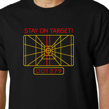 e9fd54e12d6 Stay on Target T-Shirt X-Wing Computer Star Wars Quote Geek Funny Sci-Fi  Jedi 2018 Fashion Short Printed-Men Customize Tee Shirt
