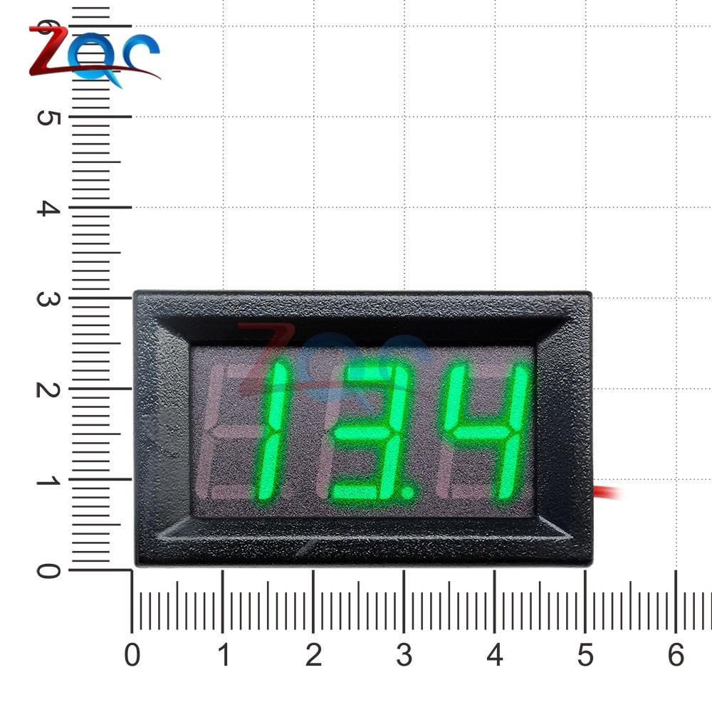 HTB1BgFoXoGF3KVjSZFoq6zmpFXam 0.56'' Mini LED Digital Voltmeter Detector DC 0-100V 12V 24V Voltage Capacity Monitor Volt Panel Tester Meter For Motorcycle Car