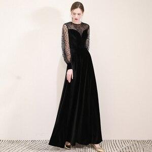 Image 5 - FADISTEE Mới đến buổi tối thanh lịch prom dresses Vestido de Festa Áo Choàng Áo Choàng De Dạ Hội velour ren phun đầy tay áo váy