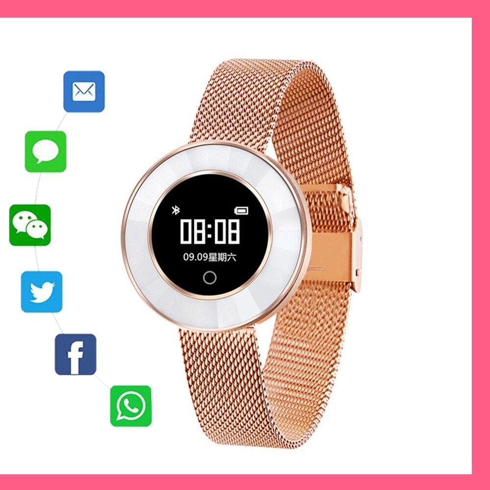 Montre Smart Watch X6 mode Bande À Puce bon cadeau pour petite amie Podomètre IP68 Étanche Bracelet Sang pression pour femmes dames