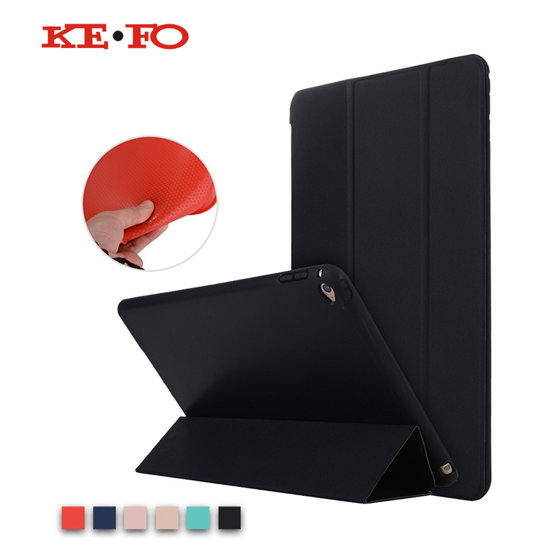 KeFo For iPad Air 2 Case Silicone Soft Back Slim PU Leather Smart Cover For Apple iPad Air2 ipad 6 Case Stand Auto Sleep / Wake rygou smart cover for apple ipad air 2 ipad 6 pu leather magnetic front case hard back cover for ipad air 2 case tablet c