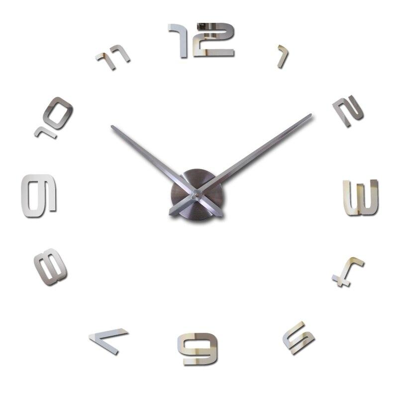 2019 nový obývací pokoj diy zrcadlo nástěnné hodiny 3d samolepky křemenné hodinky evropy velké domácí dekorace hodiny akrylové nálepky