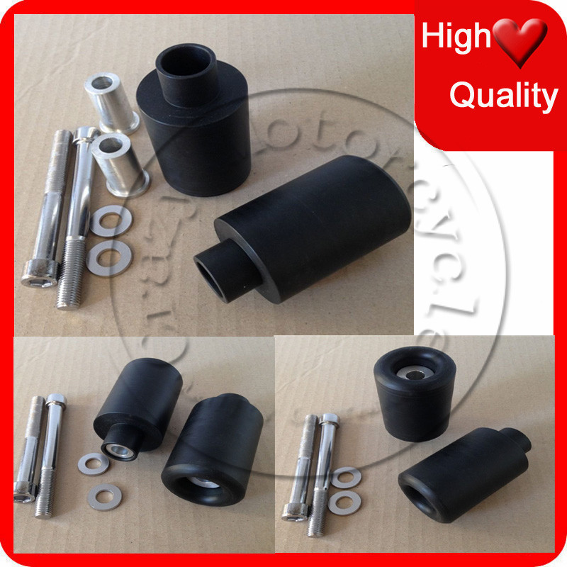 Motorcycle For 1999-2007 Suzuki Hayabusa GSXR 1300 / GSX1300R Black No Cut Frame Sliders crash Falling protection