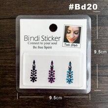 BD20 Festival Style Rhinestone Gem Bindi Tattoo Body Jewelry Bindis