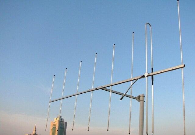 Укв 136 - 174 м любительское радио 8 элементов с высоким коэффициентом усиления 12dBi яги антенны открытый беспроводной ретранслятора радио основанием UHF гора яги антенна