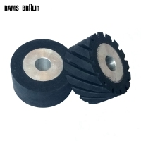 100 50 25mm Serrated Rubber Contact Wheel Belt Grinder Part