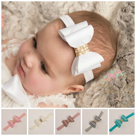 Aliexpress.com   Buy Sequin Hair Bow Headband Rhinestone Bow Children Hair  Accessories Photographic props 5pcs lot from Reliable children hair  accessories ... df5fe6e025c