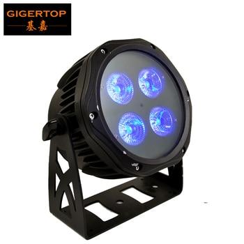 Gratis Pengiriman TP-P117 4X18W Outdoor 6in1 Warna Panggung LED Par Light Die Casting Aluminium Perumahan 25 Derajat Lensa 200W Power Supply