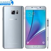 Originele Unlocked Samsung Galaxy Note 5 Mobiele Telefoon 4G LTE 5.7 ''16MP Octa Core 4 GB RAM 32 GB ROM NFC Smartphone