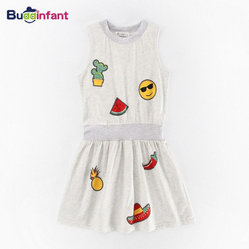 Summer Girls Dress Fruit Watermelon Pineapple Children Clothes Cotton Soft Baby Girl Infant Kid Sleeveless Sundress brand new
