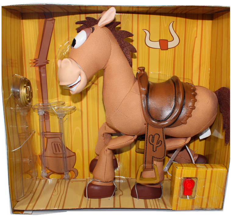 Toy Story Woodys Horse Bullseye with Music and Sound Effect 35cm PVC Action Figure Collectible Model Toy