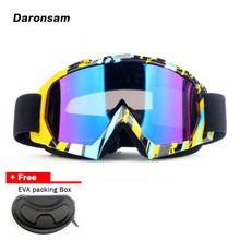 2017 New Outdoor Ski Goggles Double Layer Lens UV400 Anti-fog Windproof Snow Eyewear Adult Unisex Snowboard Skiing Glasses