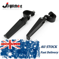 Universal 1 1 1 4 Black Motorcycle Crash Highway Bar Engine Guard Foot Pegs Mount Clamp