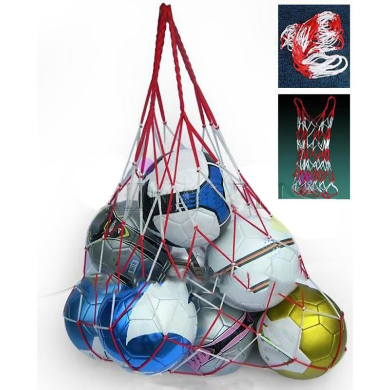 Soccer Carry Bag Outdoor Sports Portable Rope Equipment Football Balls Volleyball Ball Mesh Bag Can Hold 10 Balls TX005