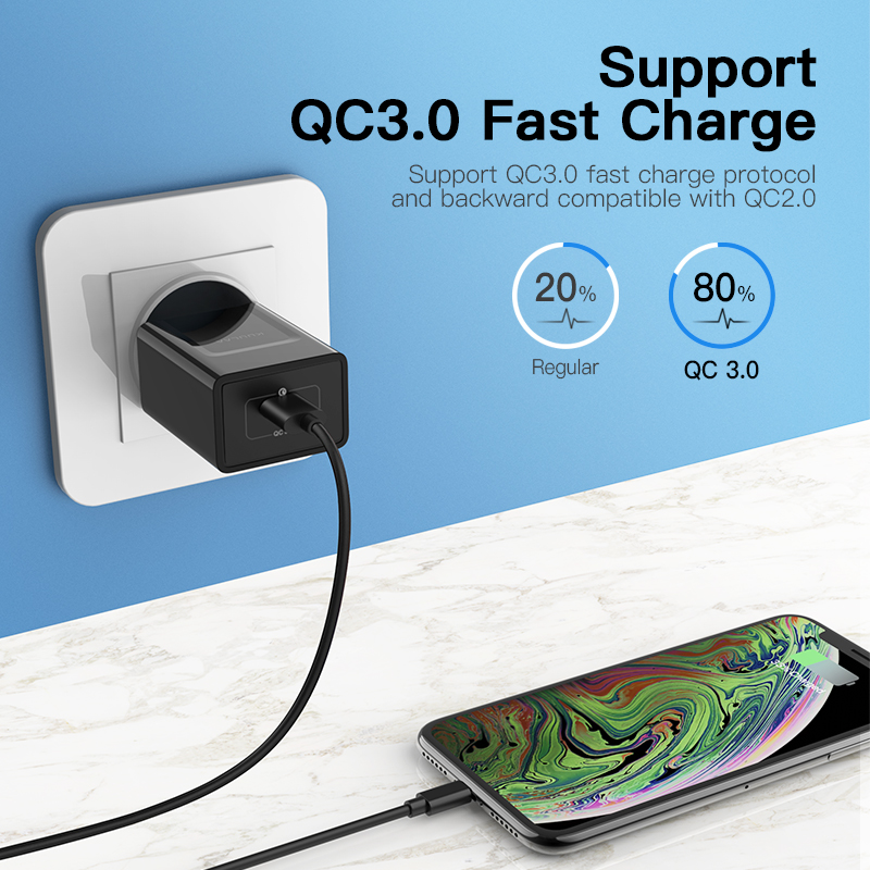 KUULAA Quick Charge 3 0 Mobile Phone Charger USB Charger EU Plug 18W QC 3 0 Fast Charger For Xiaomi Redmi 5 samsung galaxy s9 in Mobile Phone Chargers from Cellphones Telecommunications