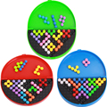 Andult & Children Recreational Toys Puzzles Beads Mix Colors Educational Interactive Magic Beads Pyramid Toys