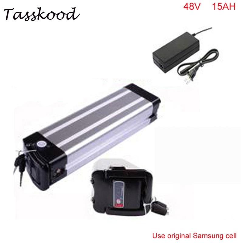ebike 48v battery electric bike battery 48V 15Ah for bafang / 8fun 750w motor with Aluminium Case For Samsung cell
