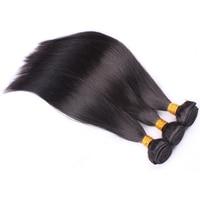 Перуанский девственница волосы прямые переплетения необработанные Человеческие волосы Связки для женщины три Связки натуральных волос Cara