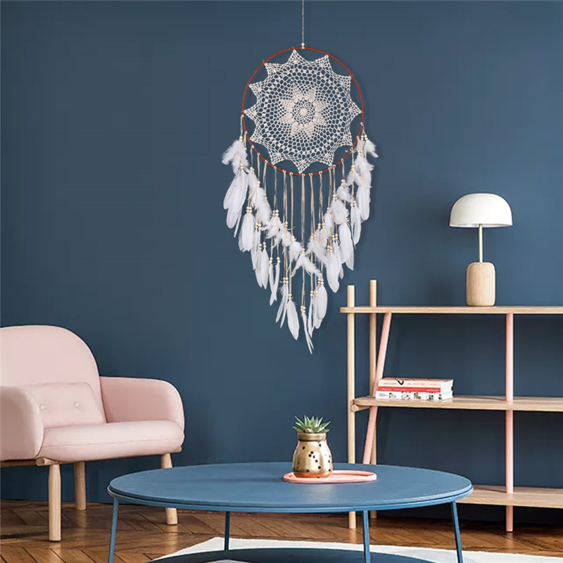 Indian Style Wall Hanging Dream Catcher Handmade Big Large Circle Feather Bedding Dreamcatcher Christmas Home Decor Ornaments