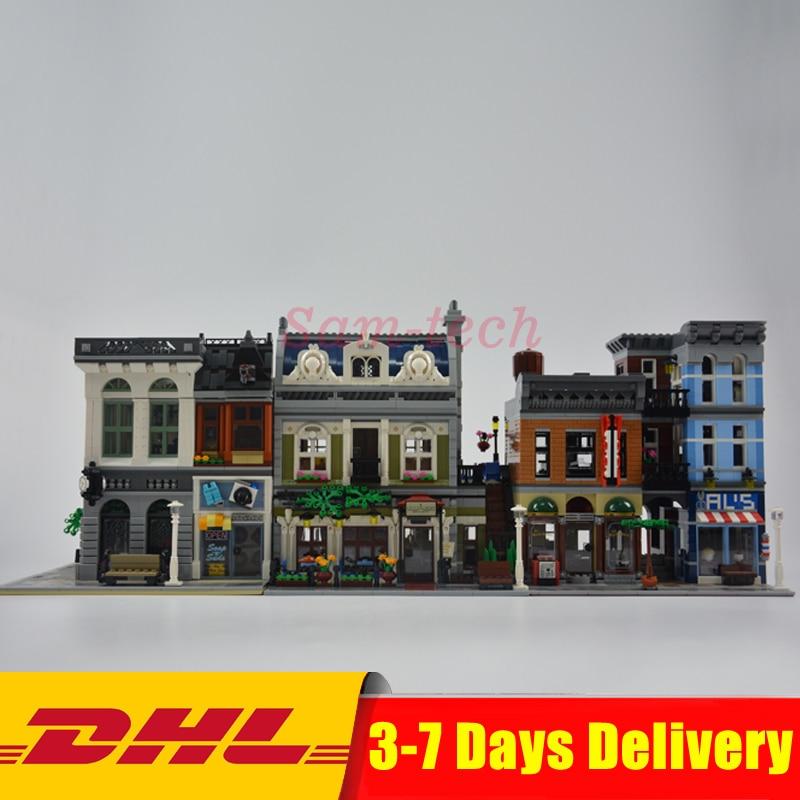 Clone 10251 10243 10197 LEPIN 15001 Bank +15010 Parisian Restaurant +15011 Detectives Office Model Building Kit Blocks