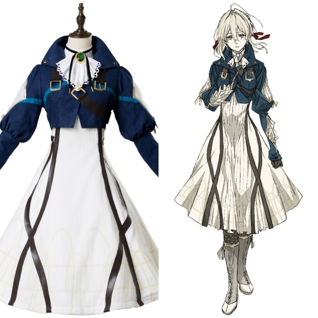 Violet evergarden auto memory doll cosplay costume maiden dress suit violet evergarden auto memory doll cosplay costume maiden dress suit gown full sets stopboris Image collections