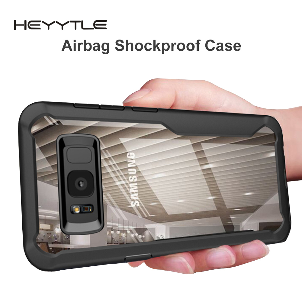 Heyytle Shockproof Case For Samsung Galaxy S9 S8 S10 Plus Note 8 9 Transparent Cover For Samsung A5 A6 A7 A8 2018 Armor Coque-in Fitted Cases from Cellphones & Telecommunications