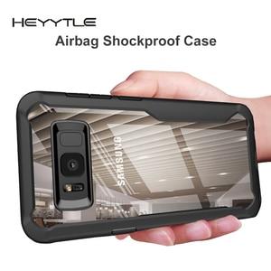 Image 1 - Heyytle противоударный чехол для samsung Galaxy S9 S8 S10 Plus Note 8 9 прозрачный чехол для samsung A5 A6 A7 A8 2018 защитный чехол