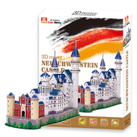 Educational Toys Germany S New Swan Castle 3d Jigsaw Puzzle Assembly Model Paper Famous Building Game