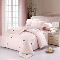 New Design 4Pcs Bedclothes artistic Pink black Dandelion Bedding Sets King Queen Full Twin size duvet cover sets bed flat sheet