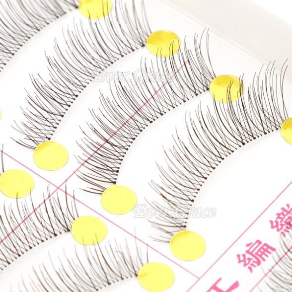 ICYCHEER 10 Pairs Makeup Handmade Natural Fashion False Eyelashes Soft Long Eye Lash Eye Lashes Cosmetic Extension Free shipping