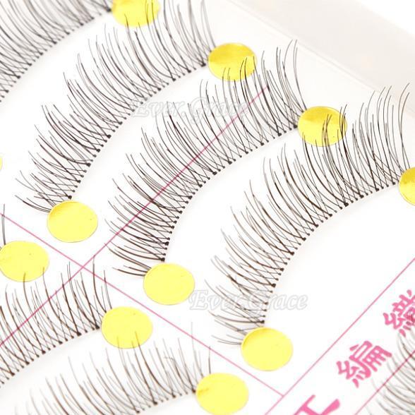ICYCHEER 10 Par Makeup Handmade Natural Moda Sztuczne Rzęsy Miękkie Długie Eye Lash Przedłużanie Rzęs Kosmetyczne Darmowa wysyłka