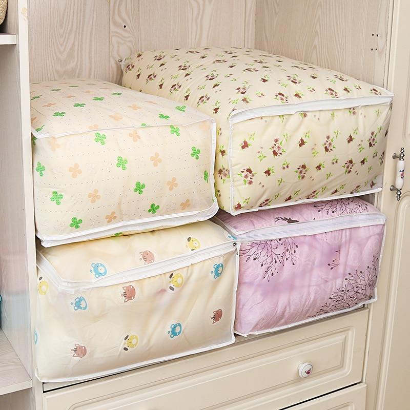 2018 New Clothes Storage Bag Folding Wardrobe Closet Organizer For Quilt Blanket Pillow Bedding Home Storage Organization & Hot Sale 2018 New Clothes Storage Bag Folding Wardrobe Closet ...