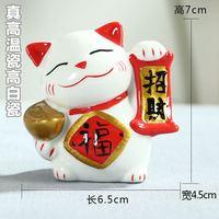 Ceramiczne kot hurtownie klienta powieść dobrej jakości Zhaocai małe ozdoby ceramiczne rzemiosła