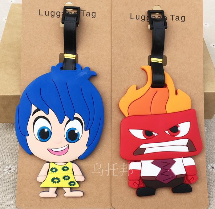 9.9 silicone luggage tag mind agent team Inside Out brand bag tags for my luggage ...