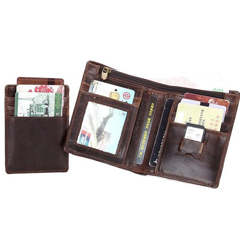 couro genuíno dos homens carteiras, Purse Bag : Coin Bags